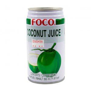 Kokossaft mit Fruchtflocken, FOCO, 350ml