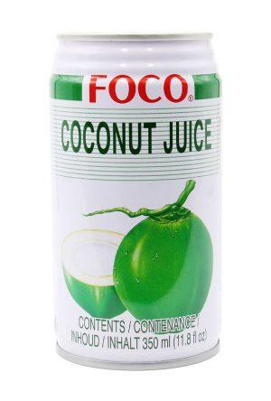 FOCO Kokossaft mit Fruchtflocken 350 ml