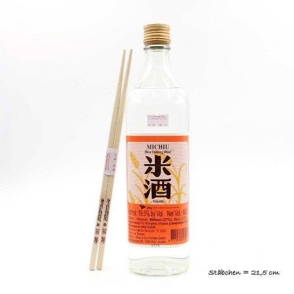 Klarer Reiswein zum Kochen 19.5% Taijade Vol 600 ml