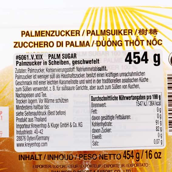Cock Brand Palmzucker in Scheiben 454 g