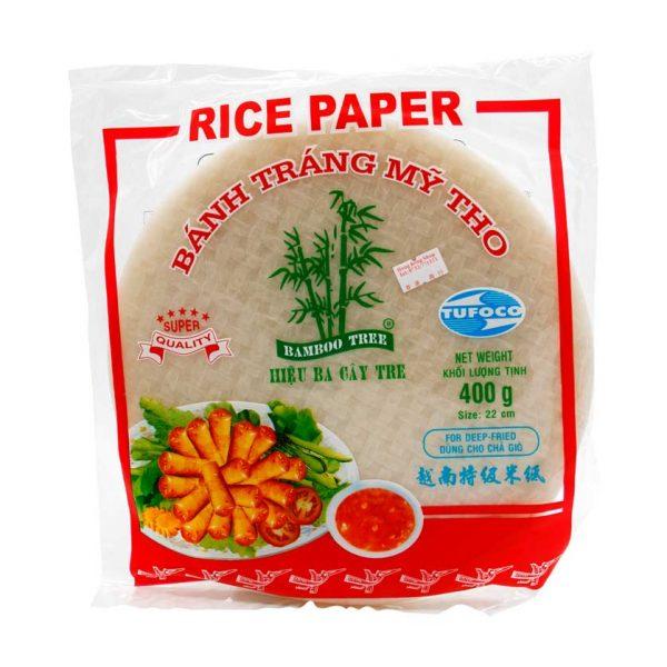 Reispapier für Frühlingsrollen zum Frittieren, Bamboo Tree, 400g
