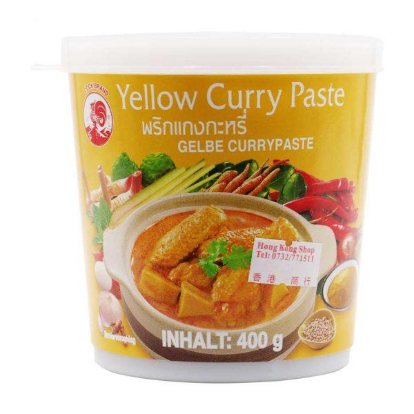 Currypaste gelb, Cock Brand, 400g