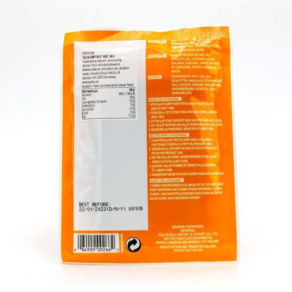 Currypaste gelb, Cock Brand, 50g