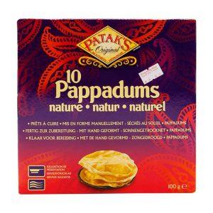 Pappadums, Patak's, 100g (10 Stück)