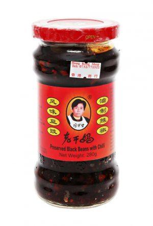 Lao Gan Ma Schwarze Bohnen in Chilisauce 280 g