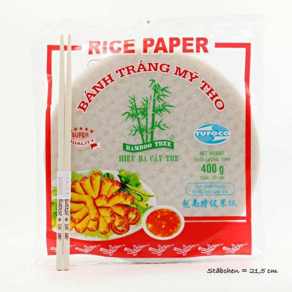 Bamboo Tree Reispapier für Frühlingsrollen, zum Frittieren 400g