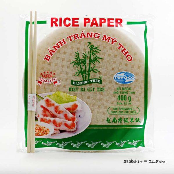 Bamboo Tree Reispapier für Sommerrollen (nicht zum Frittieren) 400g