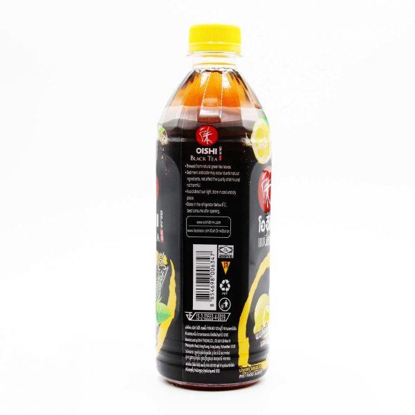 OISHI Schwarzer Tee mit Zitronengeschmack, 500ml