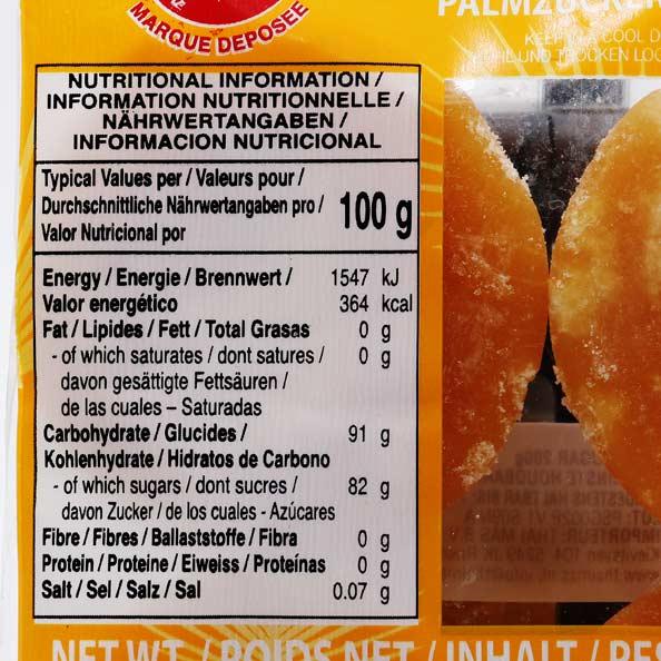 Palmzucker in Scheibe Cock Brand 200g