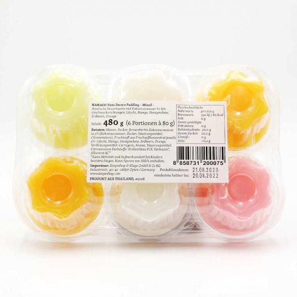 Puddingmix aus 5 Sorten, NaNaCo, 480 g