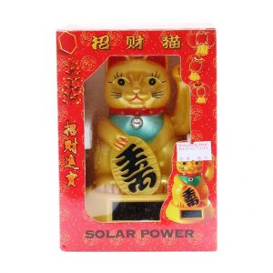 Chinesische Winke-Katze, gold