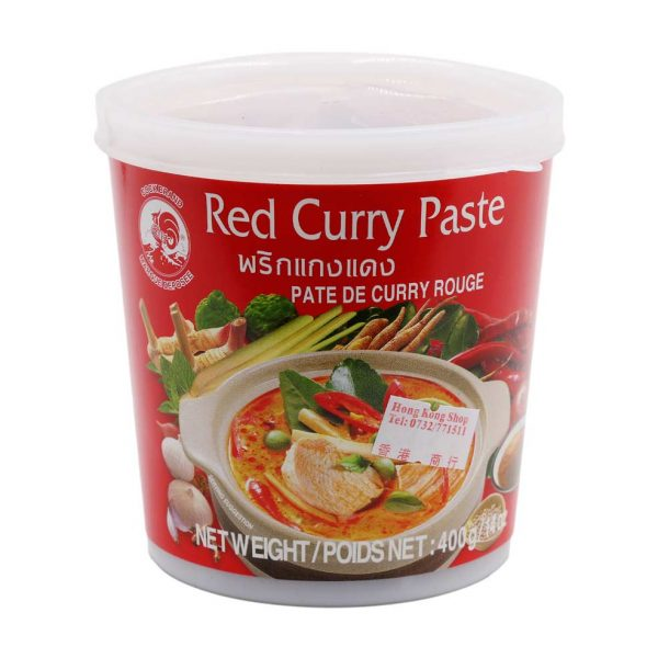 Currypaste rot, Cock Brand, 400g