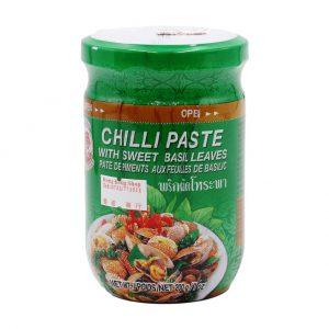 Chilipaste mit Basilikumblätter, Cock Brand, 200 g