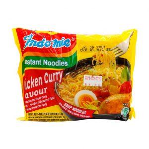 Instantnudeln Curry Huhn, Indomie, 80g