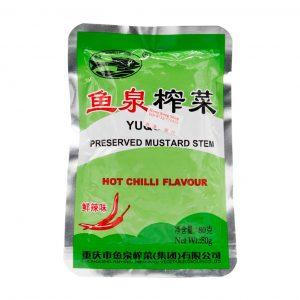 Eingelegter Senfstängel - Scharfer Chili-Geschmack (Yuquan), Fishwell Brand, 80g