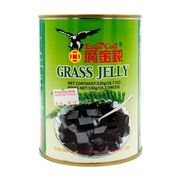 Grass Jelly - gelee mit Minzgehack, Eagle-Coin Brand, 530g