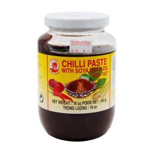 Chilipaste mit Sojabohnenöl, Cock Brand, 454g